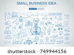 small business idea concept... | Shutterstock . vector #749944156