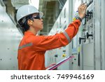electrical and instrument... | Shutterstock . vector #749946169