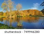 autumn in park. | Shutterstock . vector #749946280
