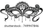 beautiful mask of lace. mardi... | Shutterstock .eps vector #749947846
