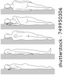 sleeping posture. upward.... | Shutterstock .eps vector #749950306