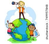 vector illustration of three... | Shutterstock .eps vector #749957848