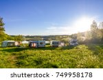 caravans and camping on the... | Shutterstock . vector #749958178