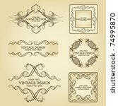 set of four  vintage frame | Shutterstock .eps vector #74995870