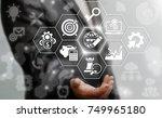successful businessman offers... | Shutterstock . vector #749965180
