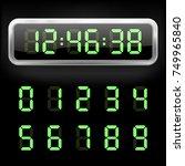 digital alarm clock. vector... | Shutterstock .eps vector #749965840
