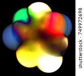 abstract colorful weird light... | Shutterstock .eps vector #749972698