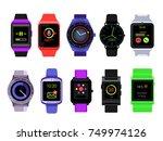 smart watch set | Shutterstock .eps vector #749974126