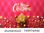 christmas and new years... | Shutterstock . vector #749976940