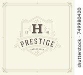 ornament monogram logo design...   Shutterstock .eps vector #749980420