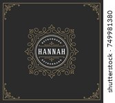 ornament logo design template... | Shutterstock .eps vector #749981380