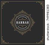 ornament logo design template... | Shutterstock .eps vector #749981383