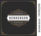 ornament logo design template...   Shutterstock .eps vector #749981398