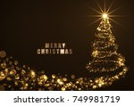happy new year gold color... | Shutterstock .eps vector #749981719