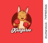 boxing kangaroo  character... | Shutterstock .eps vector #749985466