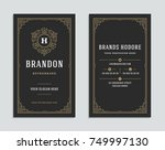 business card vintage ornament... | Shutterstock .eps vector #749997130