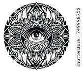 tattoo eye  | Shutterstock .eps vector #749998753