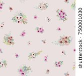 seamless pattern in small... | Shutterstock .eps vector #750001030