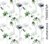 seamless pattern with... | Shutterstock . vector #750003769