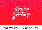 christmas. season's greetings... | Shutterstock .eps vector #750004054