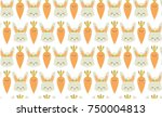 seamless pattern with cute... | Shutterstock .eps vector #750004813