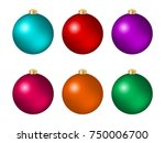 set of six multicolored... | Shutterstock .eps vector #750006700