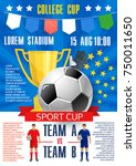 soccer cup championship poster... | Shutterstock .eps vector #750011650