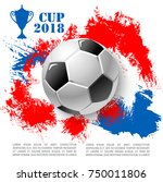 soccer cup 2018 poster of... | Shutterstock .eps vector #750011806