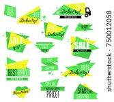 flat design sale badges and... | Shutterstock .eps vector #750012058