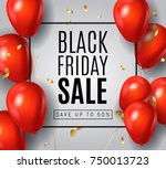 black friday sale poster with... | Shutterstock .eps vector #750013723
