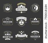 camping logos templates vector... | Shutterstock .eps vector #750018184