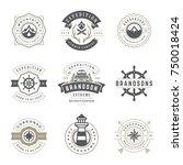 camping logos templates vector... | Shutterstock .eps vector #750018424
