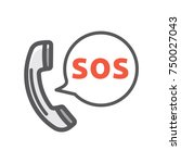 sos call icon | Shutterstock .eps vector #750027043