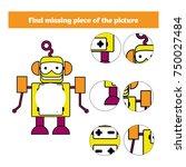 matching children educational... | Shutterstock .eps vector #750027484