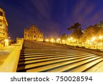 scenery of the ruins of st.... | Shutterstock . vector #750028594
