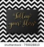follow your bliss ...   Shutterstock .eps vector #750028810