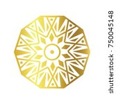 gold geometric mono line vector