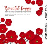 a poppy flower vector | Shutterstock .eps vector #750045973