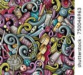cartoon cute doodles hand drawn ... | Shutterstock .eps vector #750046963