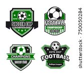 soccer cup or football... | Shutterstock .eps vector #750050284
