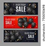 black friday sale horisontal... | Shutterstock .eps vector #750050698