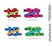 anniversary celebration of...   Shutterstock .eps vector #750052804