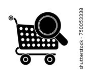 shopping cart searching icon