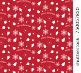 red and white vector pattern... | Shutterstock .eps vector #750057820