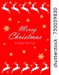 merry christmas vector... | Shutterstock .eps vector #750059830