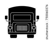 truck flat icon   Shutterstock .eps vector #750060376