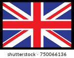 united kingdom flag vector... | Shutterstock .eps vector #750066136