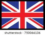 united kingdom flag vector... | Shutterstock .eps vector #750066136