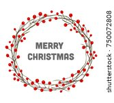 christmas wreath | Shutterstock .eps vector #750072808