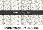 black and white geometric... | Shutterstock .eps vector #750073108
